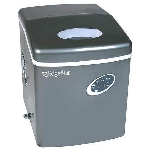 Edgestar IP210TI Titanium Portable Countertop Ice Maker, Gray
