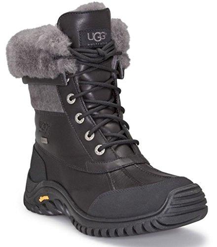 UGG Women's Adirondack Boot II Black Leather 6 B US