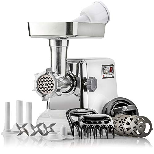 The Powerful STX Turboforce Classic 3000 Series Electric Meat Grinder & Sausage Stuffer: 4 Grinding...