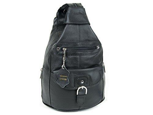 Women Genuine Leather Sling Purse Handbag Shoulder Bag Backpack Slouch Organizer with Free Wayfarer...