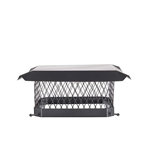 Shelter SC1313 Galvanized Steel Chimney Cap, Fits Outside Tile, 13' x 13'