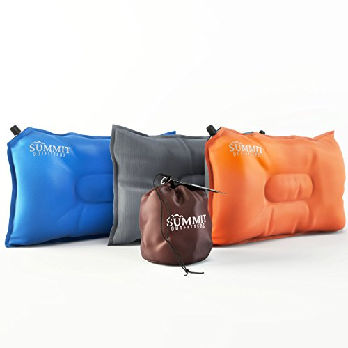 Summit Outfitters Camping Pillow Inflatable Compressible Self Inflating Air Pillow (20'x12') -...