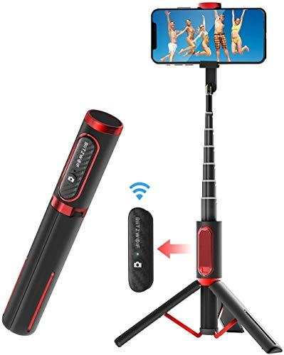 Selfie Stick Tripod, BlitzWolf Lightweight Aluminum All in One Extendable Phone Tripod Selfie Stick...