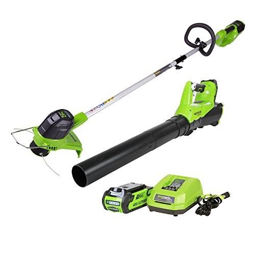 Greenworks G-MAX 40V Cordless String Trimmer and Leaf Blower Combo Pack, 2.0Ah Battery and Charger...