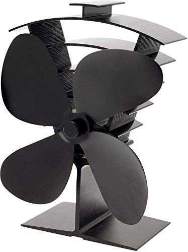 Valiant FIR361 Premium 4 Heat Powered Stove Fan, Satin Black