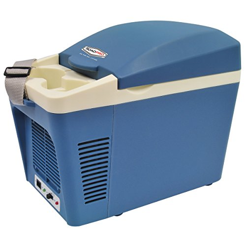 Roadpro RPAT-788 7 Liter 12V Cooler / Warmer with Cup Holders,Wht/Gray