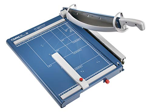 Dahle 565 Premium Guillotine Trimmer, 15-1/8' Cut Length, 35 Sheet Capacity, Self-Sharpening Blade,...