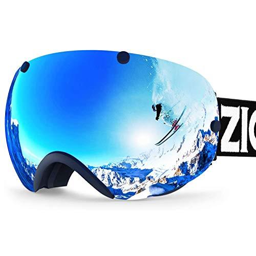 ZIONOR XA Ski Snowboard Snow Goggles for Men Women Anti-Fog UV Protection Spherical Dual Lens Design...