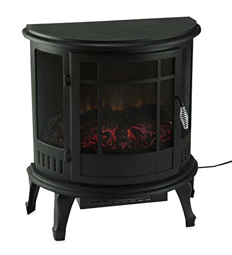 Plow & Hearth Curved Electric Wood Stove Heater