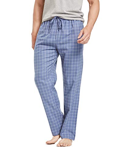 CYZ Men's 100% Cotton Premium Super Soft Flannel Plaid Pajama/Louge Pants-F1511067-L