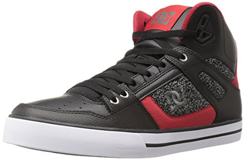 DC Shoes Men's DC Spartan High WC Skate Shoes Skateboarding, Red/Grey/Black, 13 M US