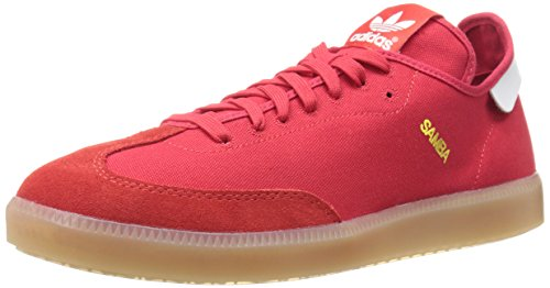 adidas Originals Men's Samba MC Lifestyle Indoor Soccer-Style Sneaker, Scarlet/Running...