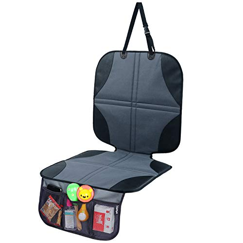Ohuhu Baby Child Car Auto Carseat Seat Protector Cover Dog Mat Vehicle Cover with Organizer (Black)