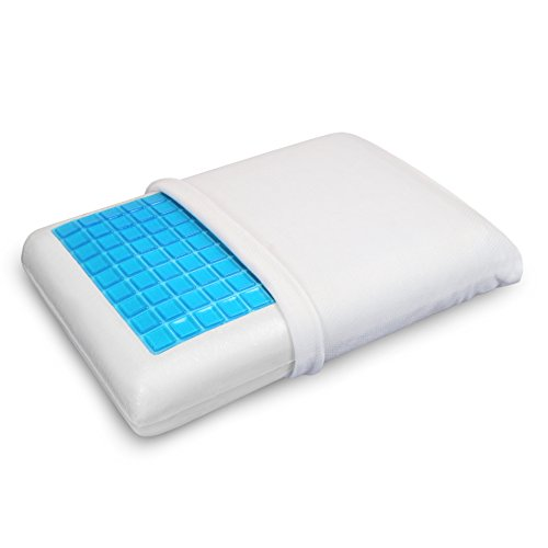 PharMeDoc Memory Foam Pillow w/Cooling Gel - Orthopedic Support Pillow Designed and Pain Relief -...