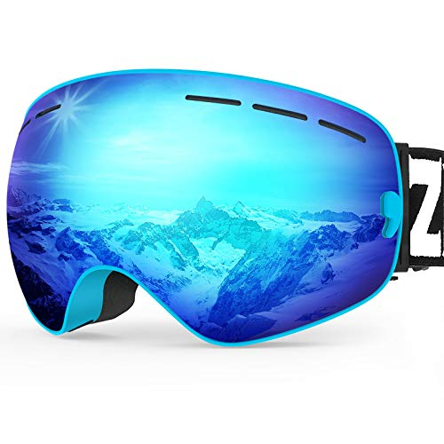 ZIONOR X Ski Snowboard Snow Goggles OTG Design for Men Women Adult with Spherical Detachable Lens UV...
