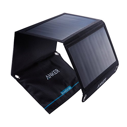 Solar Panel, Anker 21W 2-Port USB Portable Solar Charger with Foldable Panel, PowerPort Solar for...