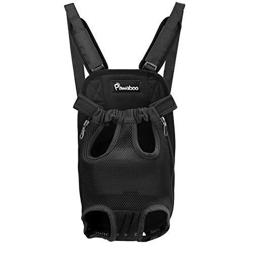 Pawaboo Pet Carrier Backpack, Adjustable Pet Front Cat Dog Carrier Backpack Travel Bag, Legs Out,...