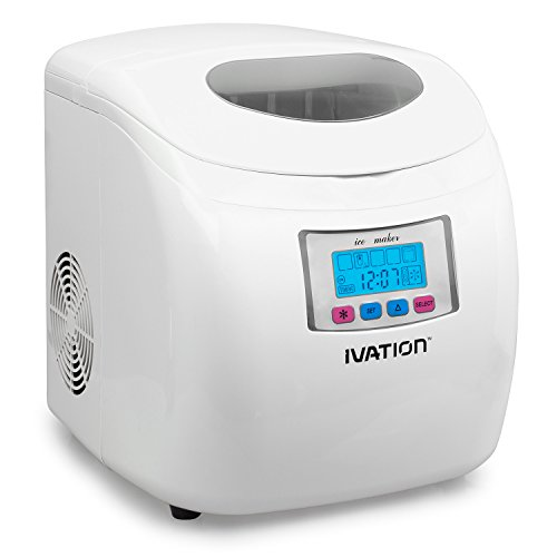 Portable Ice Maker w/LCD Display - 2.8-Liter Water Reservoir, 3 Selectable Cube Sizes - Yield of up...