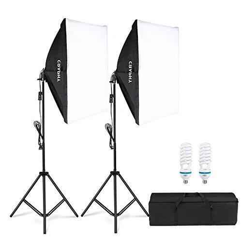 CRAPHY Photography Studio Softbox Lighting Kit 800W 5500K Continuous Light Equipment with 20x28'...