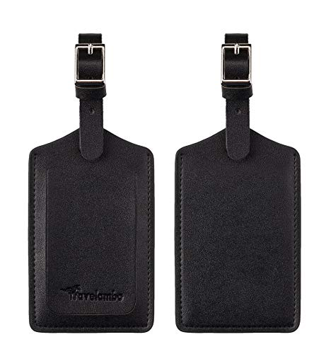 Travelambo Leather Luggage Bag Tags (red)