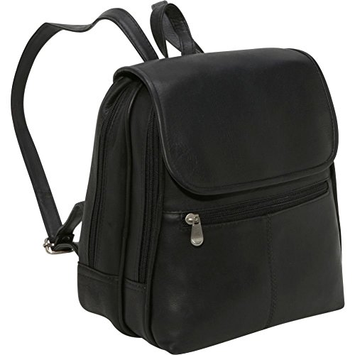 Le Donne Leather Everything Women's Backpack/Purse, One Size, Black