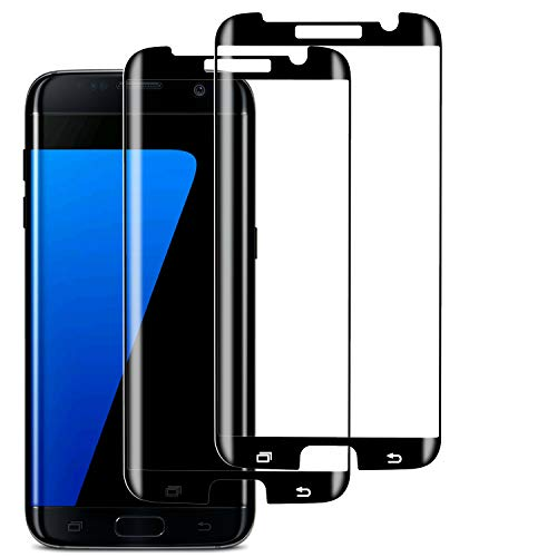 RUXELY S7 Edge Screen Protector (2 Pack), Case-friendly Tempered Glass,9H Hardness,HD Clear Glass...