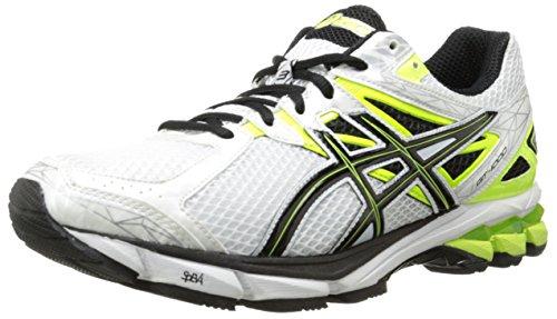 ASICS Men's GT-1000 3 Running Shoe,White/Black/Flash Yellow,12 M US