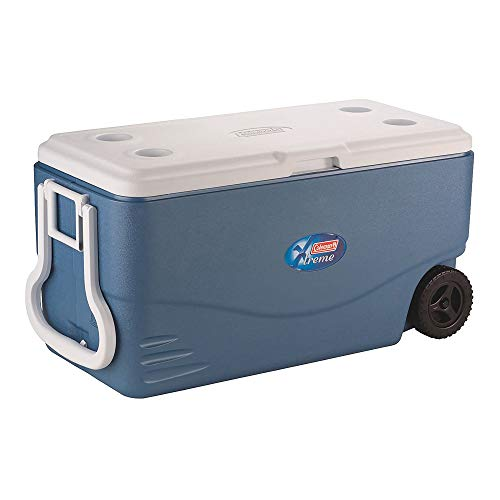 Coleman 100-Quart Xtreme 5-Day Heavy-Duty Cooler with Wheels, Blue