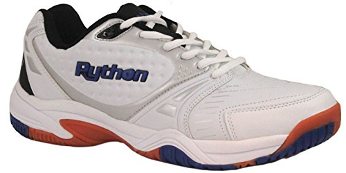 Python Men's Deluxe Indoor (Low) Racquetball Shoe (Non-Marking) 6.0 (D) US White