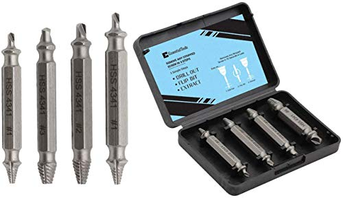 Damaged Screw Extractor Kit and Stripped Screw Extractor Set. Its A HassleFree Broken Bolt Extractor...