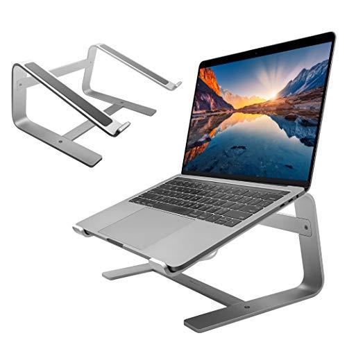 Macally Laptop Stand - Laptop Riser Stand for Desk - Aluminum Ergonomic Laptop Holder Mount Works...