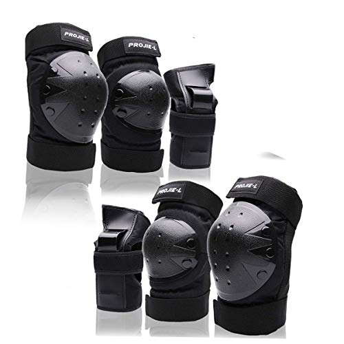 Protective Gear Set For Adult/Youth Knee Pads Elbow Pads Wrist Guards for Skateboarding Cycling Bike...