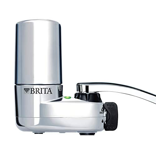 Brita Tap Water Filter System, Water Faucet Filtration System with Filter Change Reminder, Reduces...