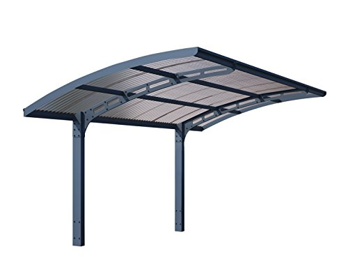 Palram Arizona Wave 5000 HG9105 Carport, 10 x 16 x 9, Gray/Gray