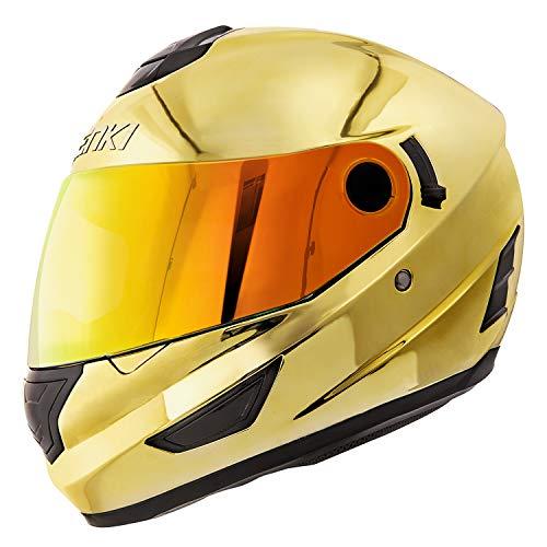 NENKI Helmets NK-852 Full Face Motorcycle Helmets Dot Approved With Dual Visors (Large, Chrome...
