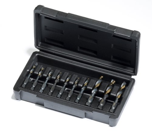 Champion DT22HEX-SET10 Combination Drill and Tap Set, 10-Piece