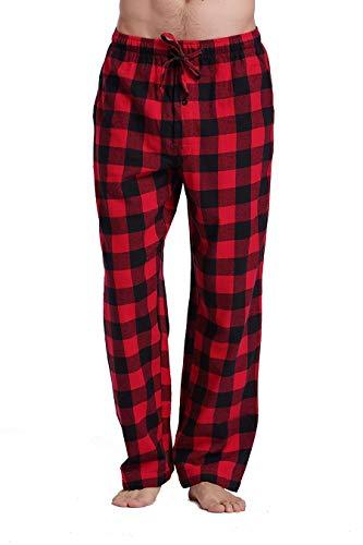 CYZ Men's 100% Cotton Premium Super Soft Flannel Plaid Pajama/Louge Pants-F1511067-L