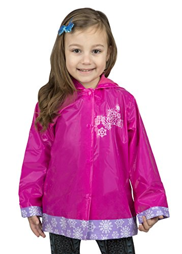 Disney Frozen Girls Rain Coat - Size - 6 Pink