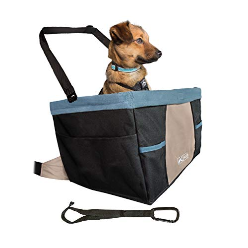 Kurgo Rover Booster Dog Car Seat with Seat Belt Tether