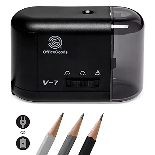 Electric Pencil Sharpener - Compact & Portable Heavy Duty for Colored Pencils, Artists, Office,...