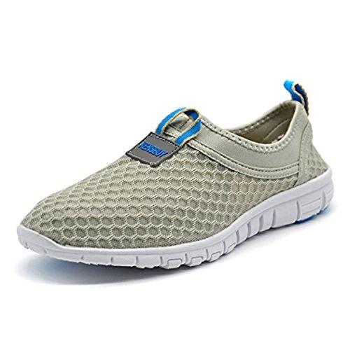 KENSBUY Men's Lightweight Slip on Mesh Shoes Quick Drying Aqua Water Shoes Athletic Sport Walking...