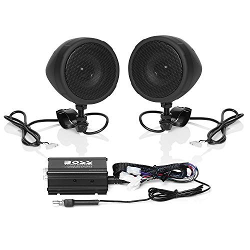 Boss Audio Systems MCBK420B Motorcycle Bluetooth Speaker System - Class D Compact Amplifier, 3 Inch...