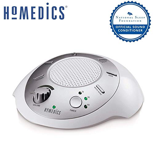 White Noise Sound Machine Portable Sleep Therapy for Home, Office, Baby & Travel 6 Relaxing &...