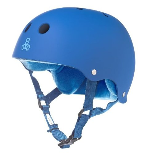 Triple Eight Sweatsaver Liner Skateboarding Helmet, Royal Blue Rubber, Medium