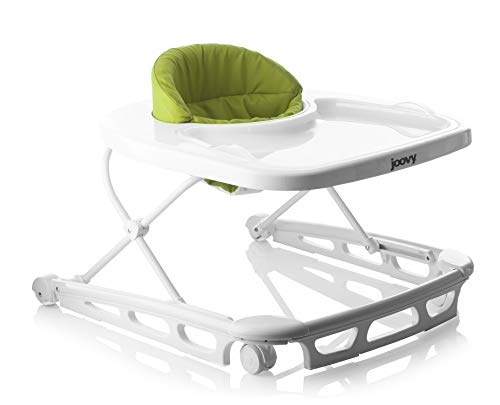 Joovy Spoon Walker, Adjustable Baby Walker, Activity Center, Greenie