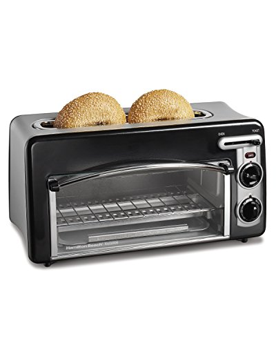 Hamilton Beach Toastation Oven with 2-Slice Toaster Combo, Ideal for Pizza, Chicken Nuggets, Fries...