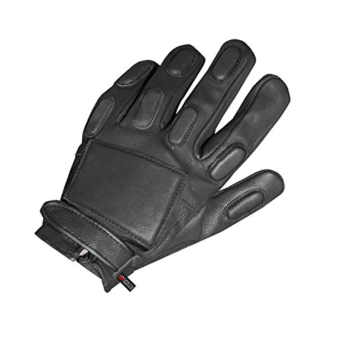 New Men's Genuine Police Force Motorcycle Leather Tactical Gloves Black XL