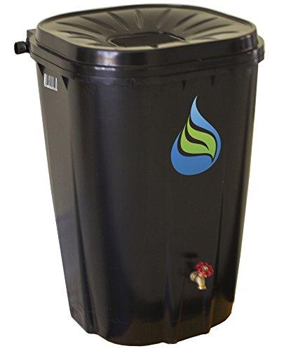 Enviro World Corporation EWC-14 FreeGarden Black Rain Collection Barrel-Lawn and Garden