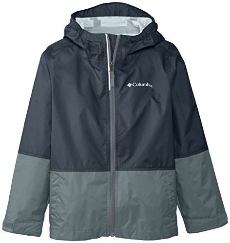 Columbia Big Boys' Trail Trooper Rain Jacket, Black, Small