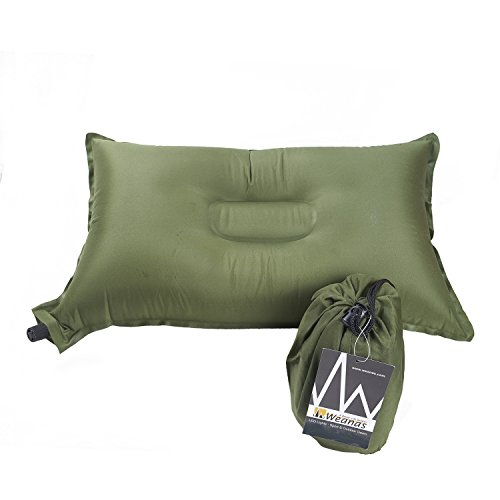 Weanas Lightweight Compressible Recreation Self Inflating Air Pillow, Rectangular 20 X 12,...